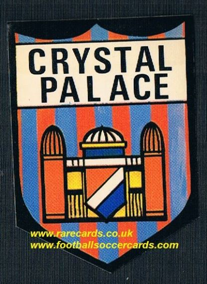 1972 BAB Crystal Palace unused PVC sticker with backing paper